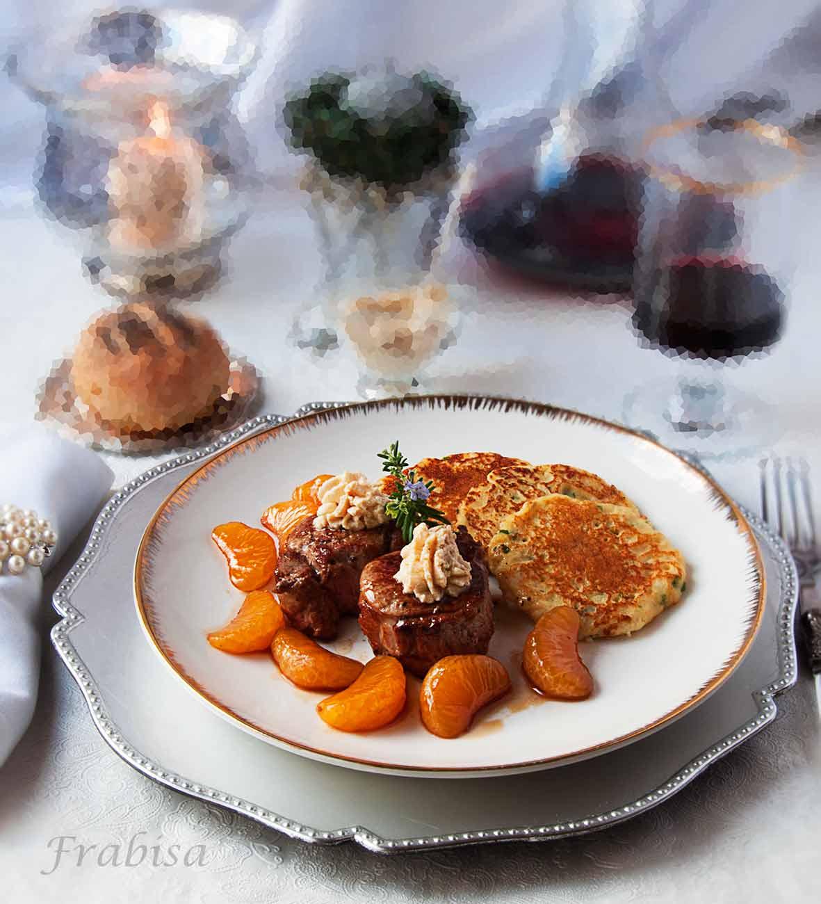 Solomillo-mandarinas-roquefort-Frabisa-1