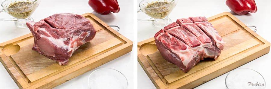 Asado al horno, con patatas. SECRETOS DE UN BUEN ASADO