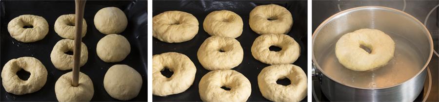 bagels, semillas, pan casero