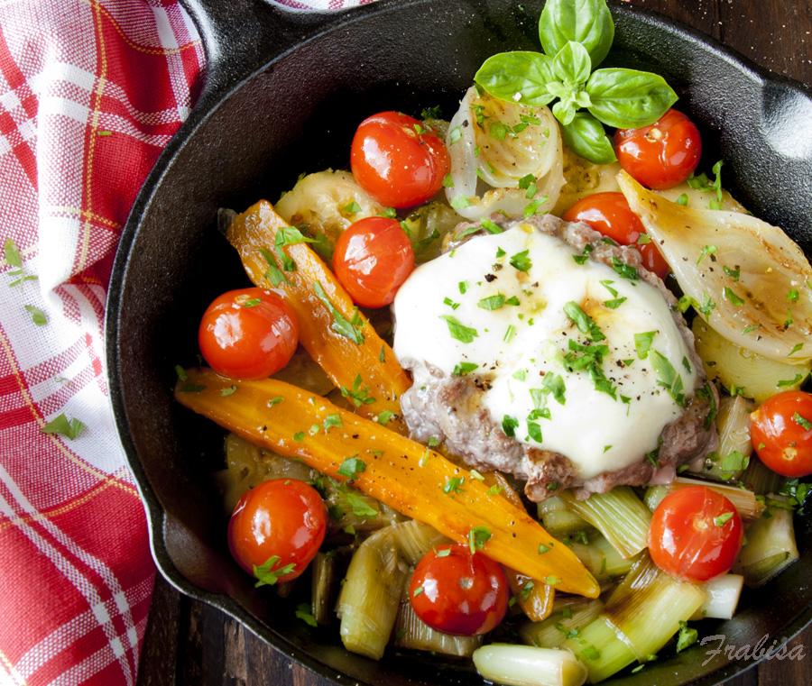Filete ruso con verduras y queso de cabra receta la - Cocinar verduras para dieta ...