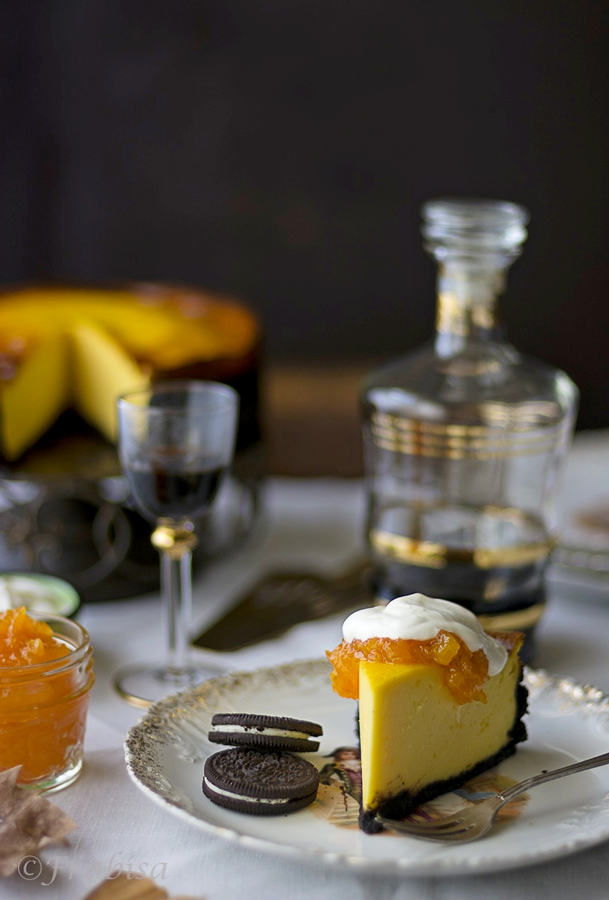 tarta queso, halloween, calabaza