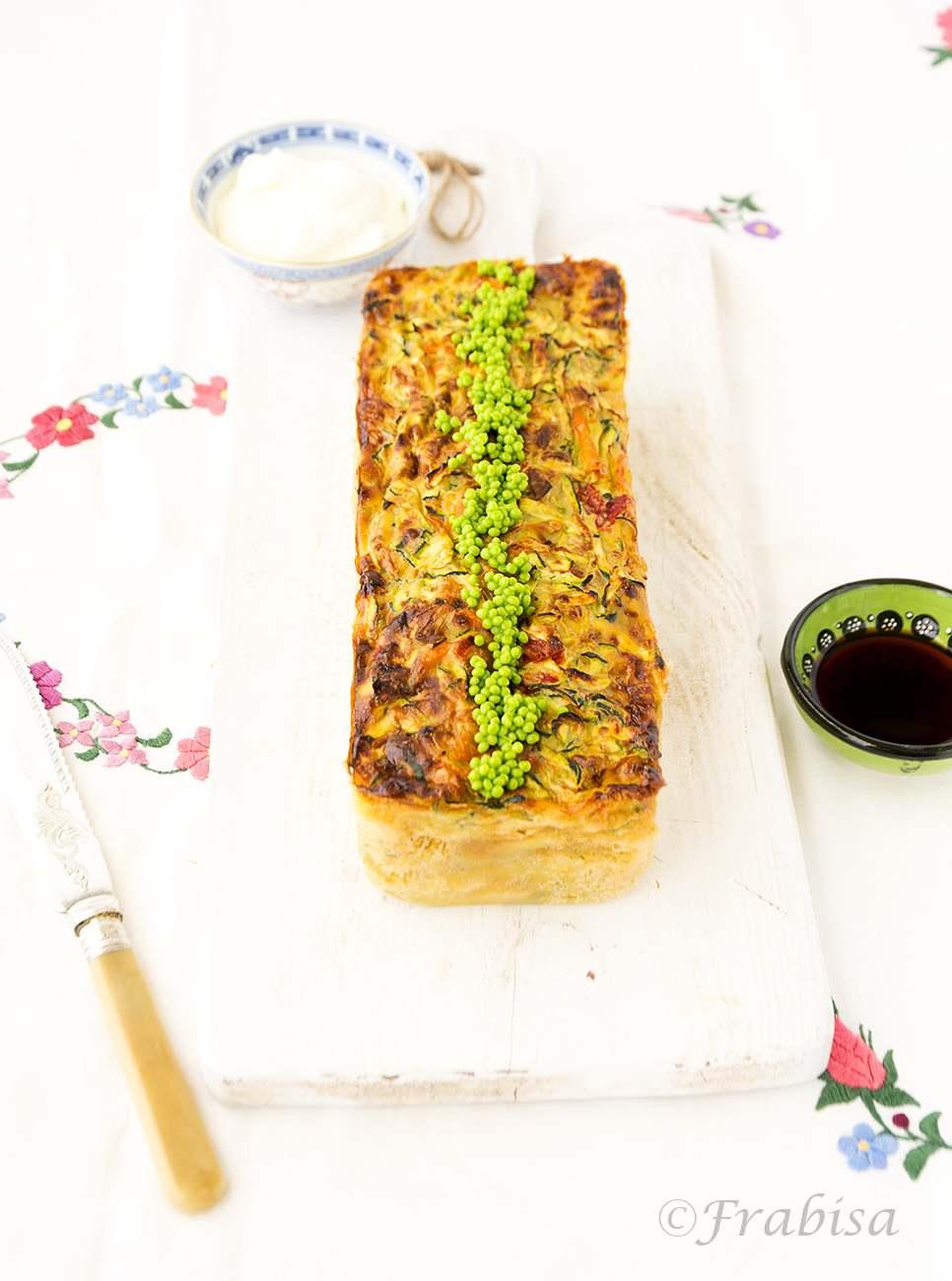 pastel verduras salmon fresco