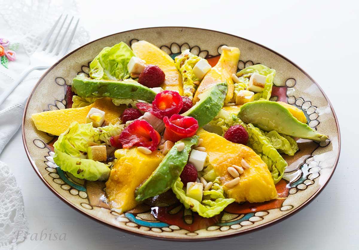 Ensalada tropical de aguacate y mango la cocina de frabisa la cocina de frabisa - Ensalada con salmon y aguacate ...