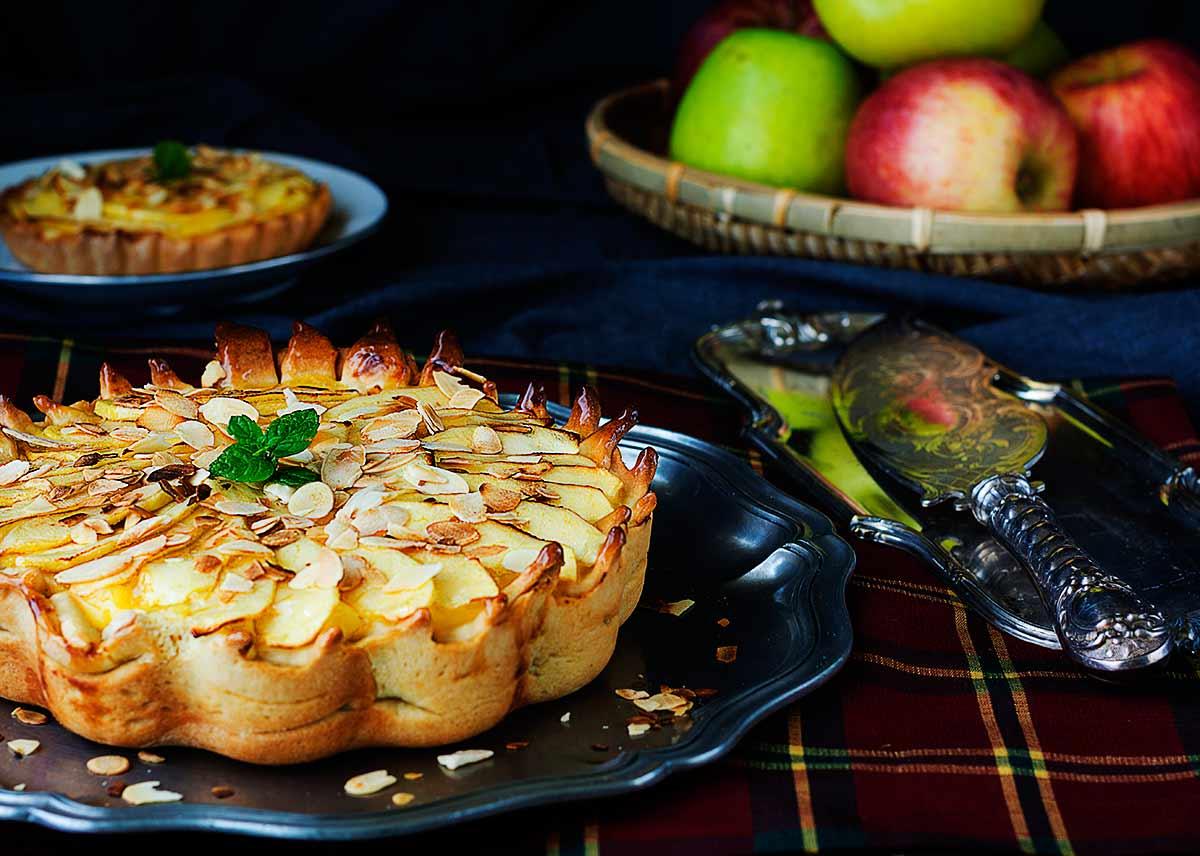 tarta de manzana y almendras la cocina de frabisa la