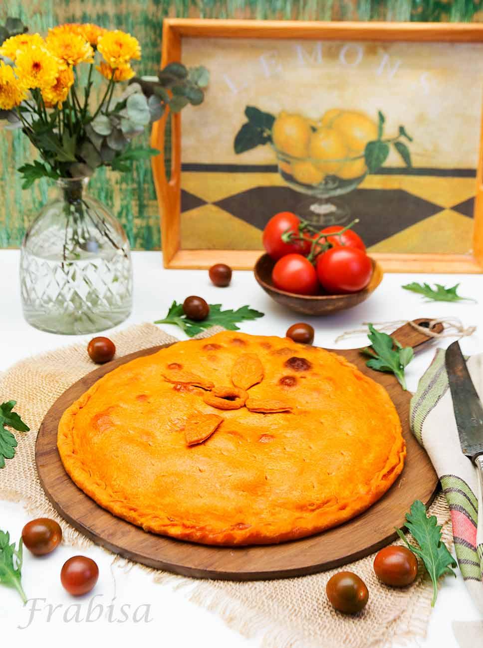 Empanada de salmon y mejillones. Cocina gallega