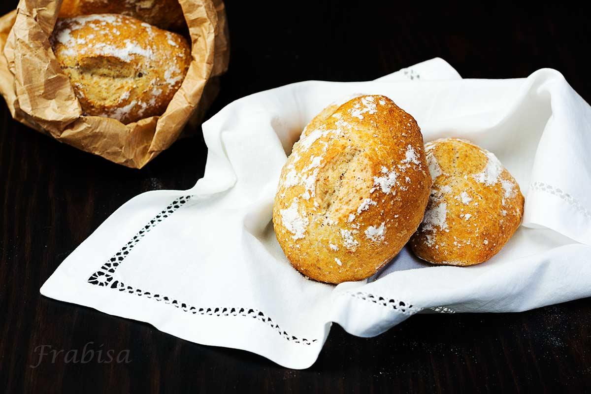 harina integral, pan, panecillos, receta