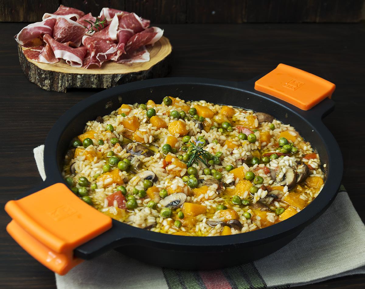 risotto de calabaza con ib rico la cocina de frabisa la