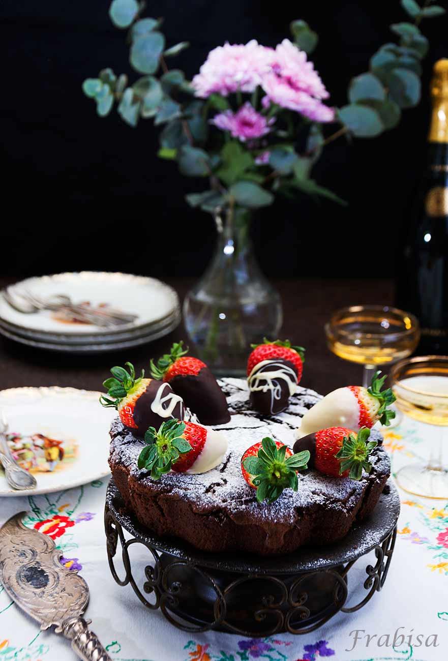 tarta-chocolate-fresas-pastel, receta