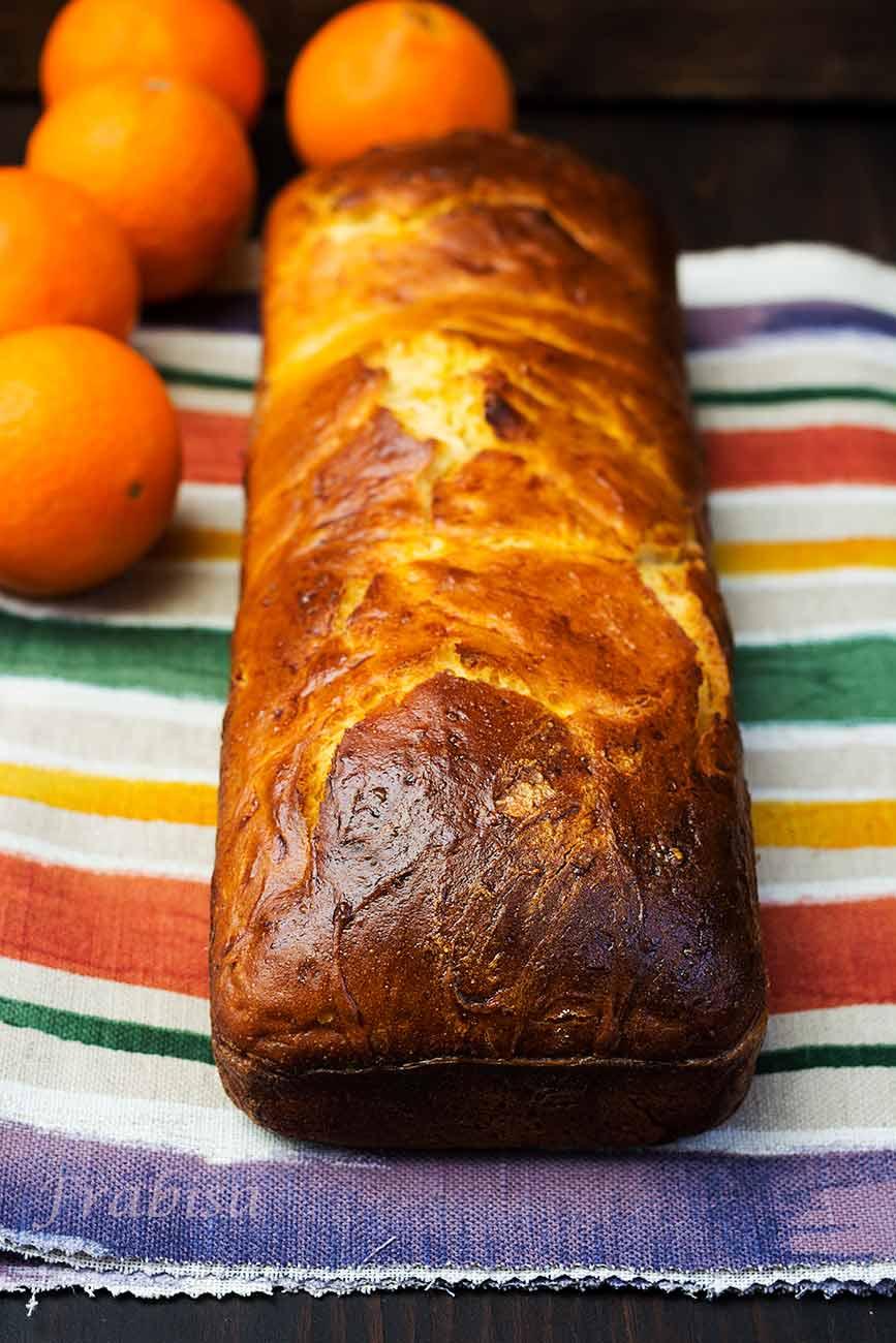 Pan de molde brioche de naranja