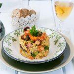 risotto-pulpo-langostinos, arroz, trigueros, esparragos