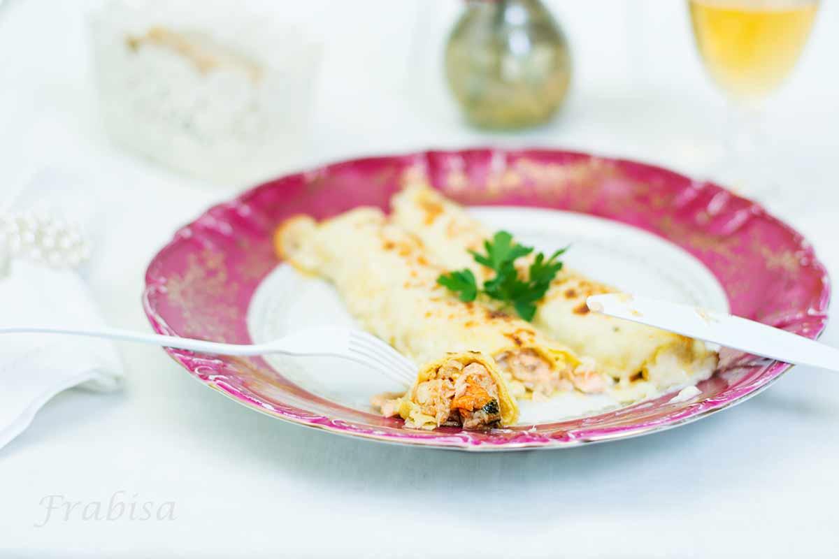 canelones, marisco, relleno, gratinado, CUISINE COMPANION MOULINEX