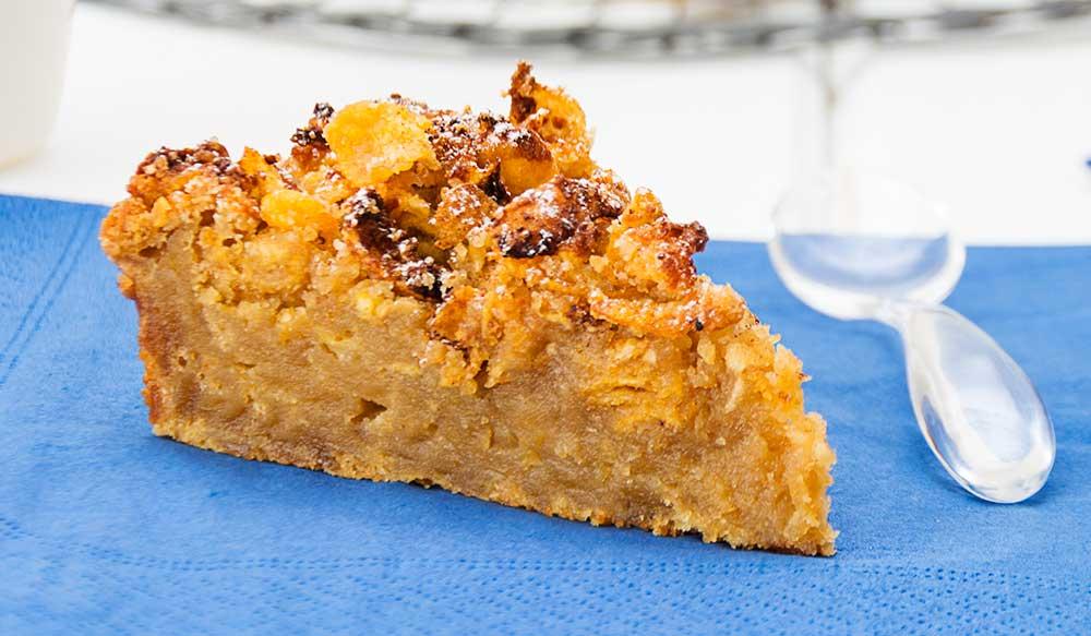pastel-manzana-crumble, corn flakes