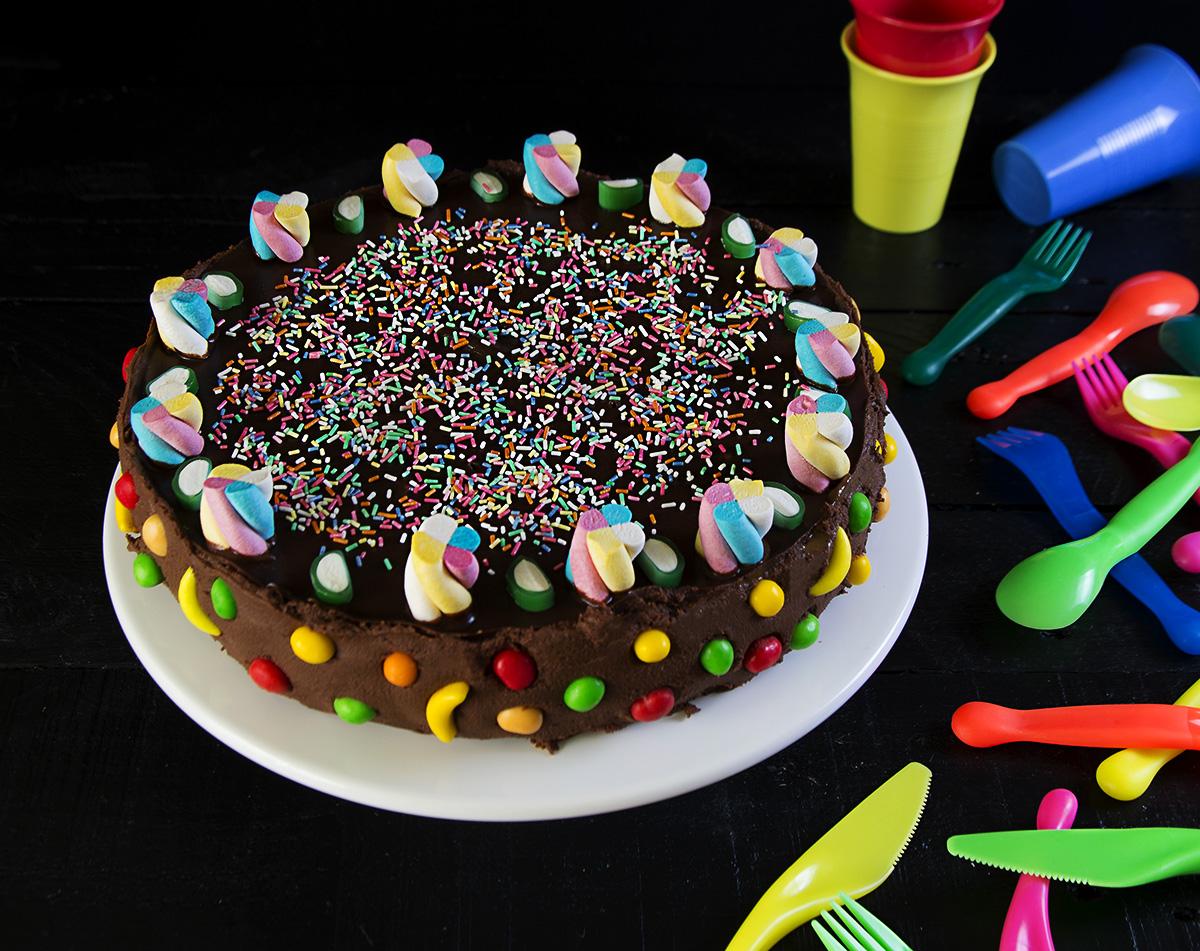 tarta de galletas y crema rpida de cumpleaos