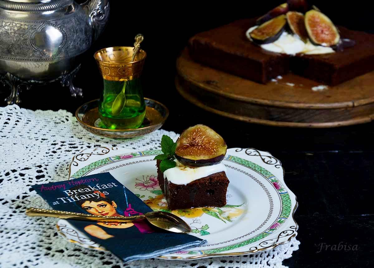 tarta, higos, chocolate, miel, yogur griego, aldi