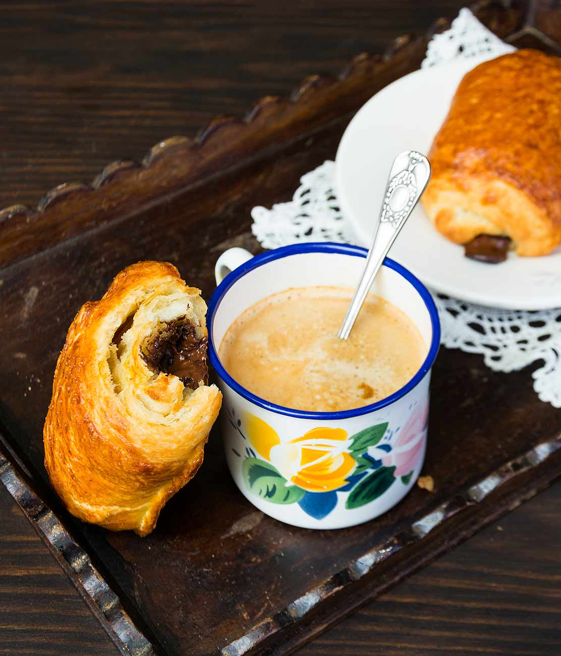 napolitanas, pain aux chocolat, hojaldre