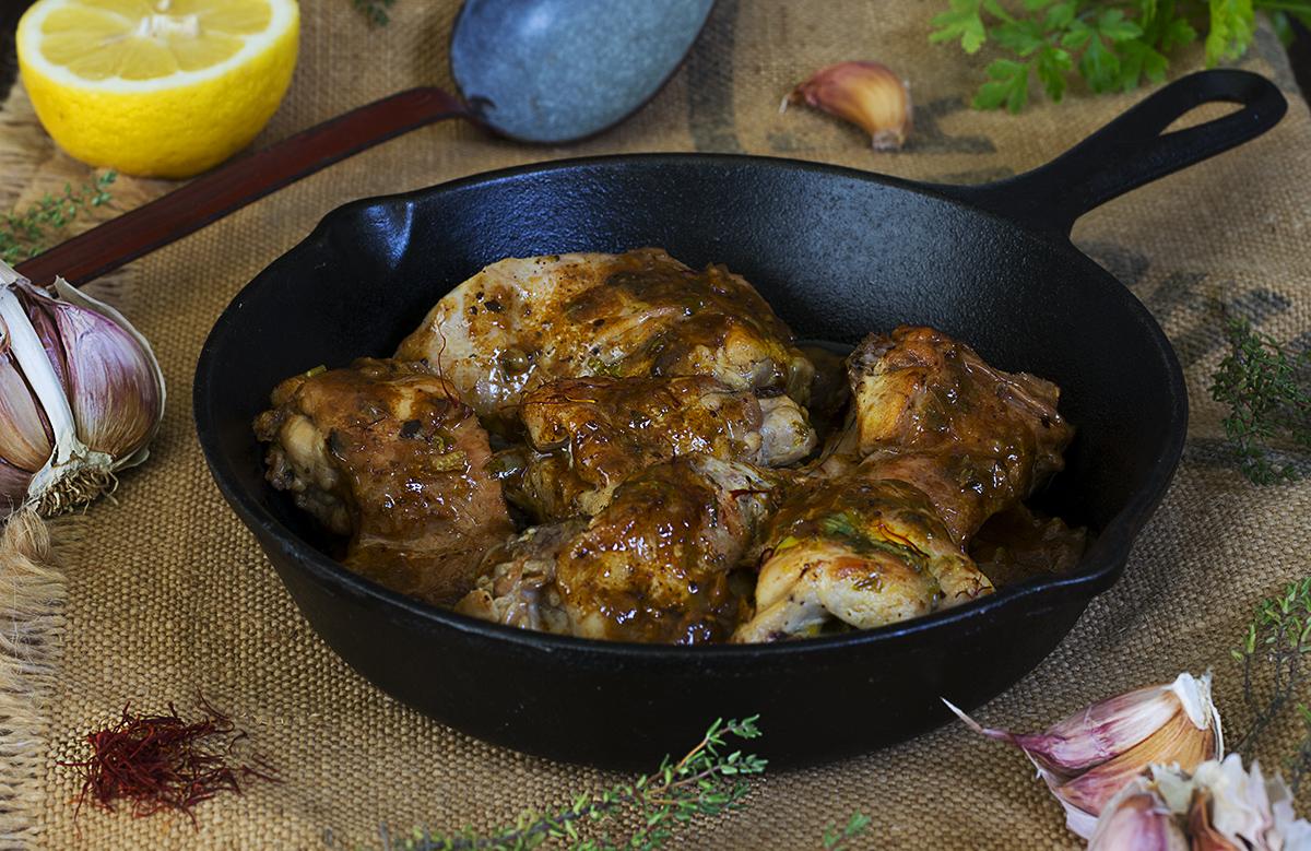 Conejo al ajillo cocina tradicional la cocina de for Cocinar un conejo
