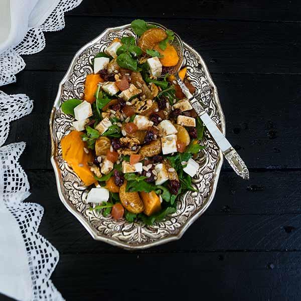 Ensalada de caquis eco cocina saludable la cocina de for Cocina saludable