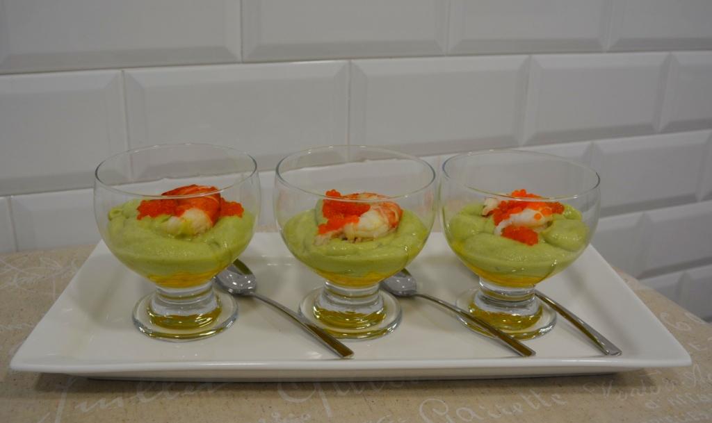 Mousse de aguacate y mango en vinagreta_1