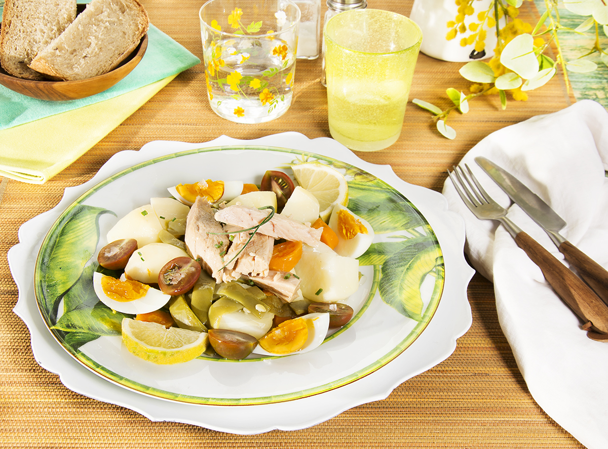 Jud as verdes con huevo y ventresca saludable la cocina for Cocinar judias verdes